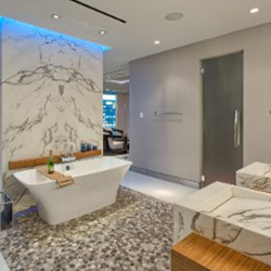 Bathroom and custom stone installation in Baltimore, MD.