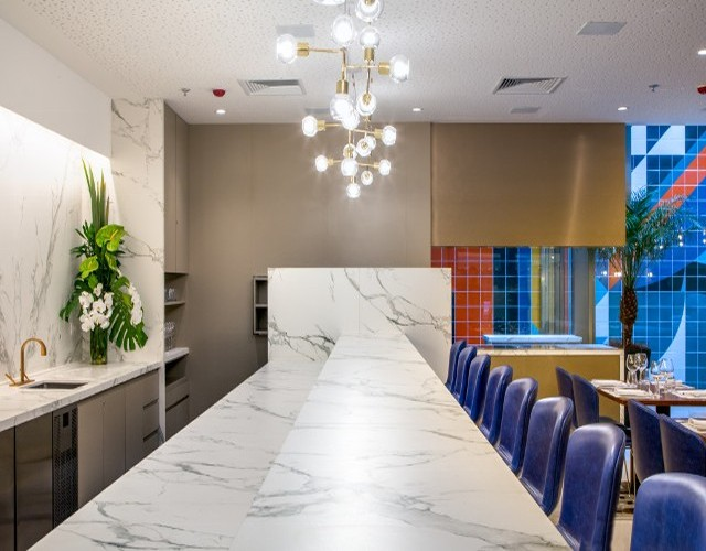 Marble conference table and stone surface materials in Baltimore, MD.