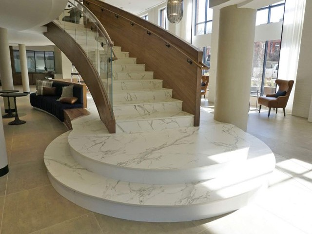 Stairs and commercial stone designs in Baltimore, MD.